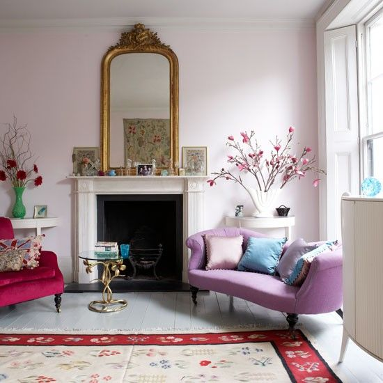 Pastel living room | Decorating ideas from Lulu Guinness' Victorian terrace house | housetohome.co.uk