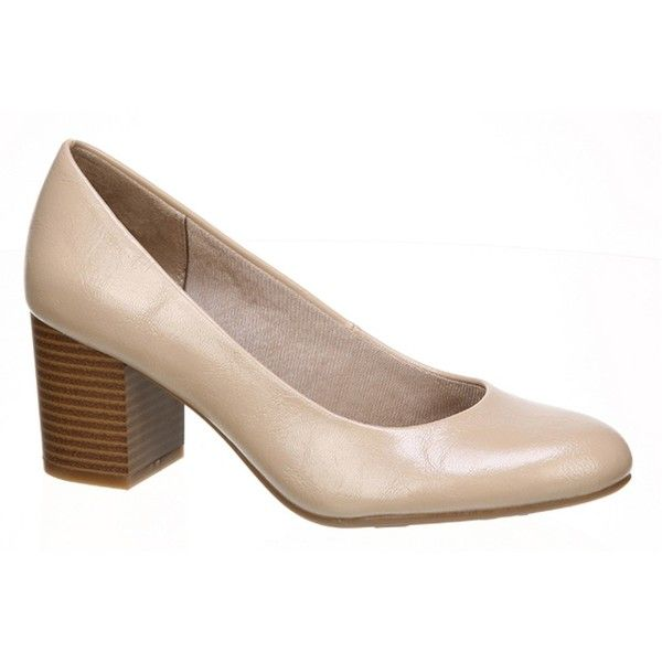 LifeStride Parigi Block Heel Pump ($25) ❤ liked on Polyvore featuring shoes, pumps, tender taupe, wide fit shoes, wide shoes, slip on shoes, lifestride pumps and slip on pumps