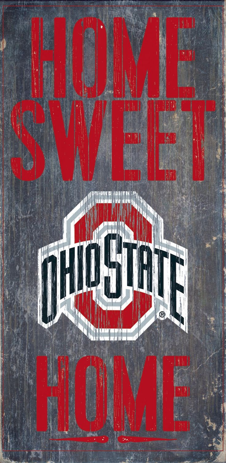 Is your home an Ohio State Football Home? Then you need this sign. This Ohio State sign is perfect for displaying around the home. It includes a piece of rope attached to the back for hanging. The sig