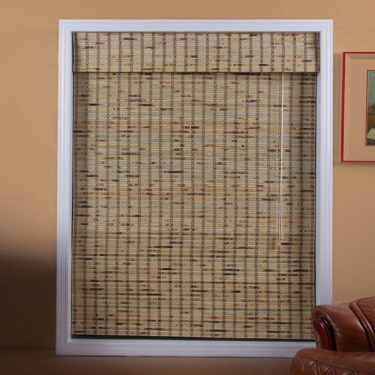 Arlo Blinds 04TBB300540 Tropical Rustic Bamboo Roman Shade at ATG Stores