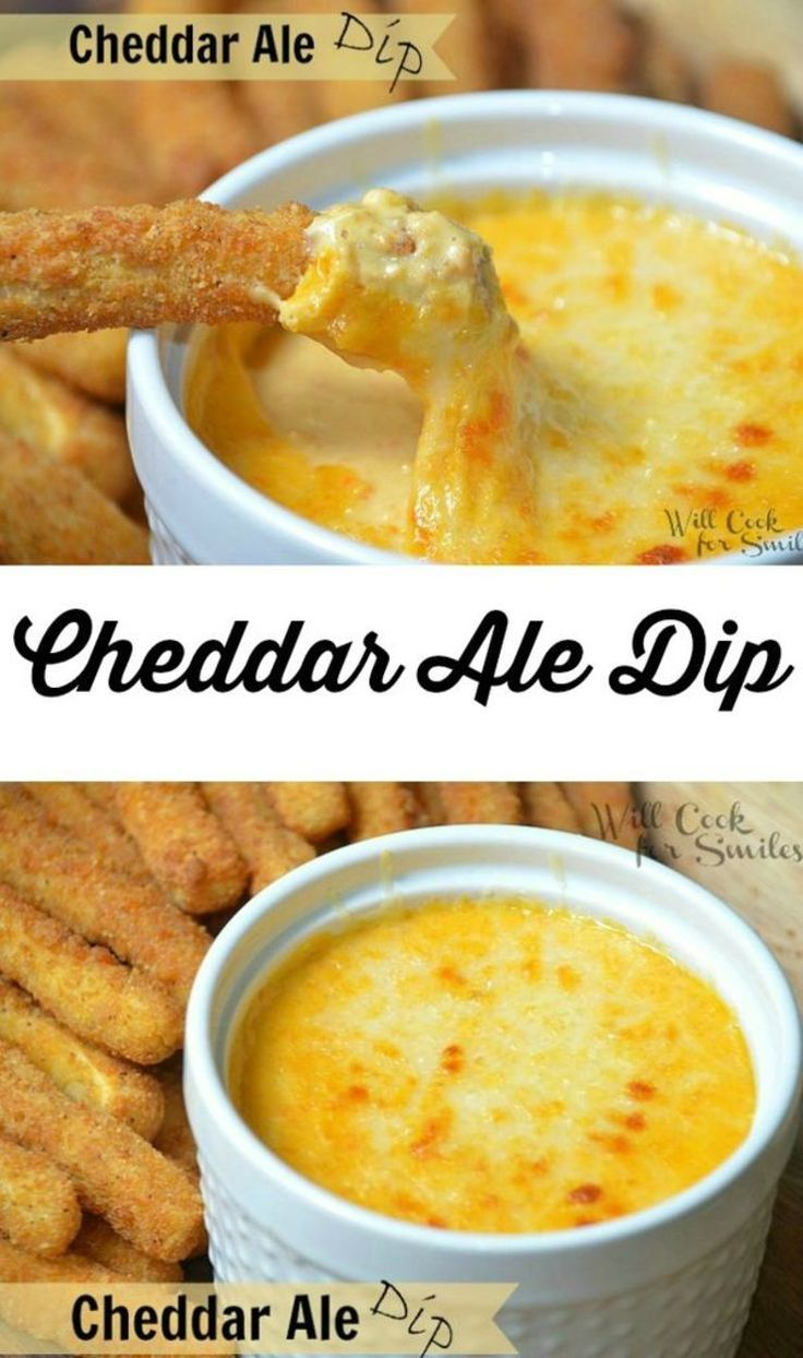 Cheddar Ale Dip. Amazing cheesy dip made with beer. Appetizer fitting for any party! from willcookforsmiles.com