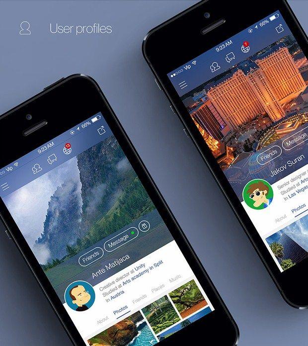 Facebook iOS 7 redesign