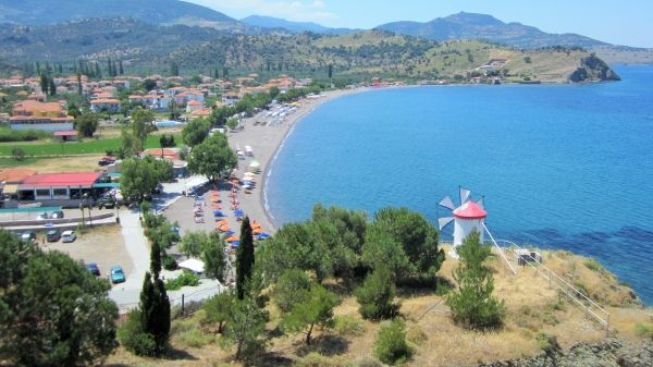 View to Anaxos beach