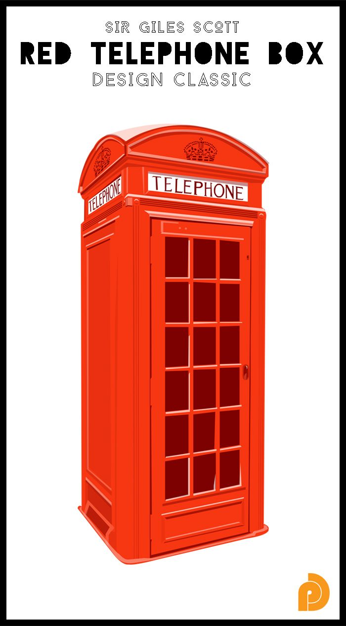 The British red telephone box, one of our design classics. Defiantly iconic design by Sir Giles Scott, find out more in our newsletter