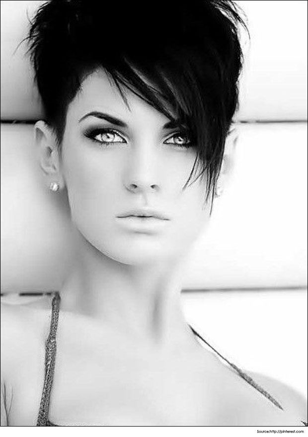 short edgy hairstyles for women classy and timeless here ebony tresses are formed into a fab faux hawk with sleek side and glossy curls on with long bangs