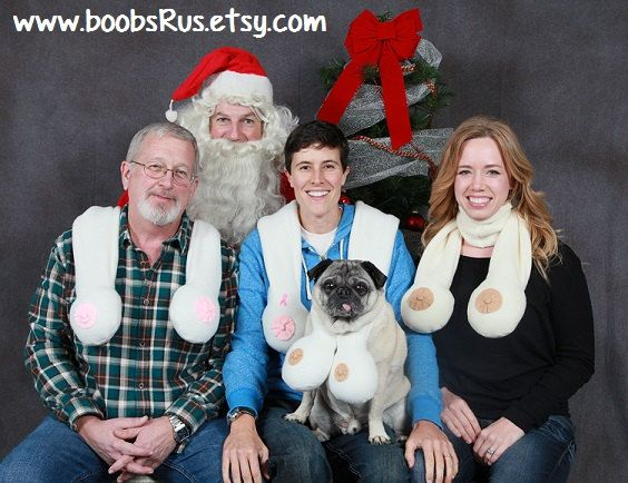 The+ORIGINAL+Boob+Scarf+..+Great+Christmas+Gag+Gift++by+boobsRus,+$25.00