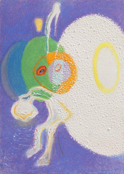 Karel Malich, Matka (od mládí k stáří) / 1995 / pastel, tempera, papír / 26'5×16 cm