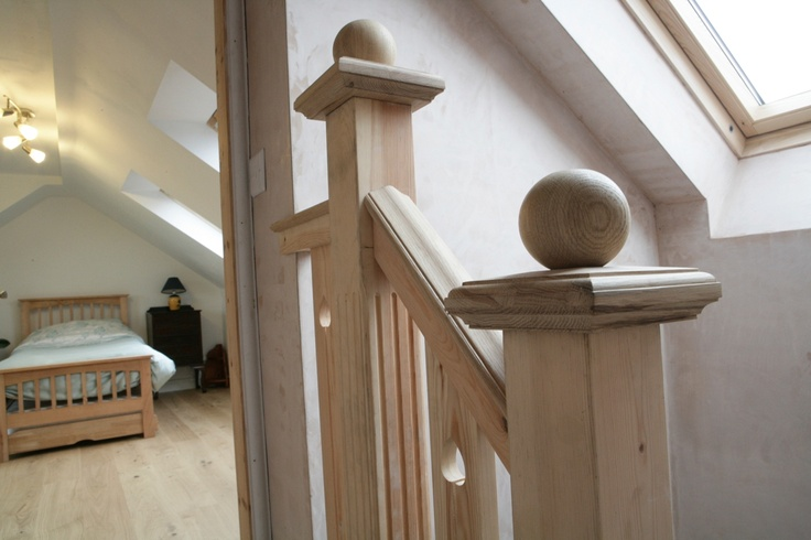 This staircase was built in a traditional home and so we had to recreate the period features.  The client loved it.