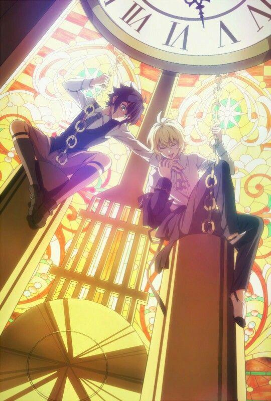 Sad Heart Girl Wallpaper Yuu And Mika Owari No Seraph Owari No Seraph Owari