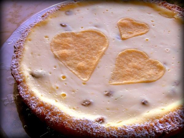 Crostata al miele con crema di ricotta e mascarpone