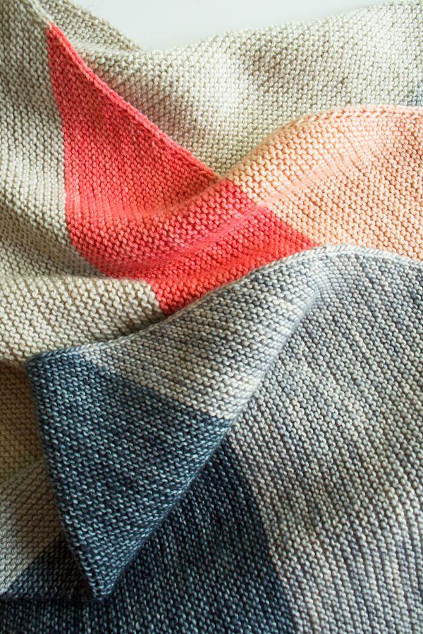 Laura's Loop: Colorblock Bias Blanket - The Purl Bee
