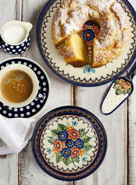 Bolesławiecka ceramika daje ogromne możliwości tworzenia własnych zestawów. Bawmy się łącząc różne kształty i dekoracje.