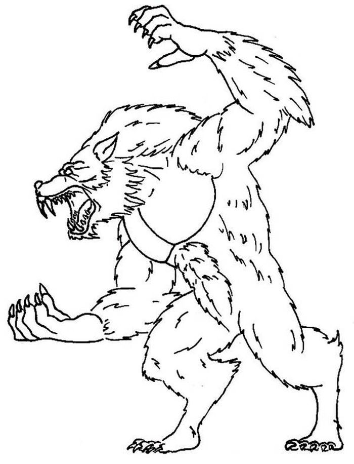 Coloring Pages Realistic Werewolf Halloween Coloring Pages Werewolf Coloring Pages