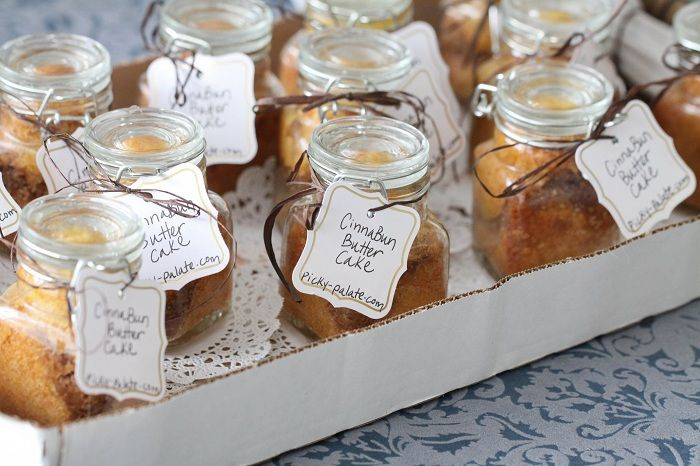Cinnabun Cakes in a jar...you bake them in the jar and then have a nice gift for any occasion.