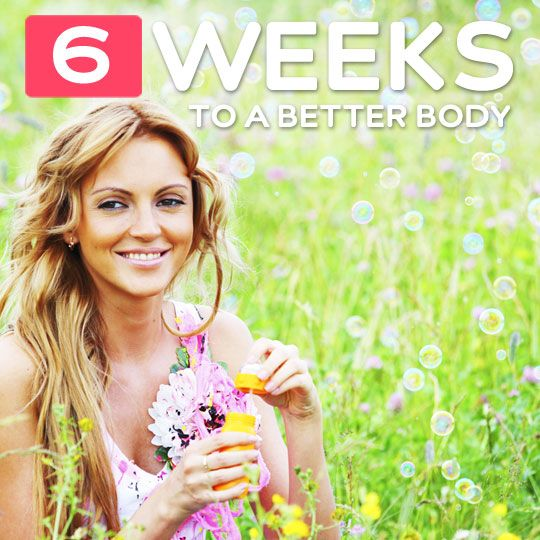 6 Weeks to a Better Body (detox, nutrition, fitness, routine, mind, and finally, habit.)