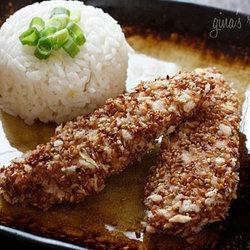 Sesame Encrusted Baked Chicken Tenders — mmmm these look so good!