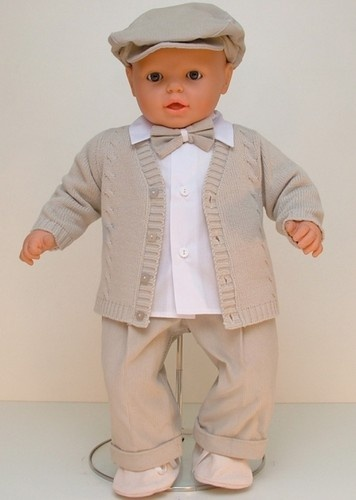 Baby Toddler Boy Formal Wedding Beige Corduroy Outfit Formal Christening 5pcs | eBay