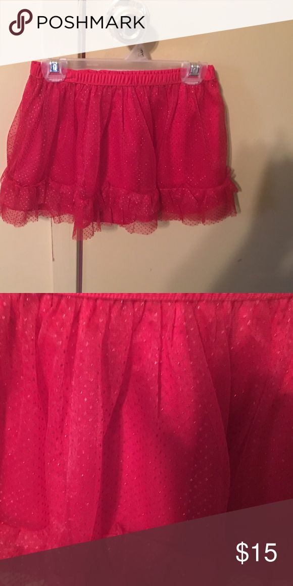 Toddler Girl Red Tutu Skirt