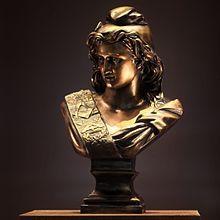 Photo en couleur d'un buste de Marianne