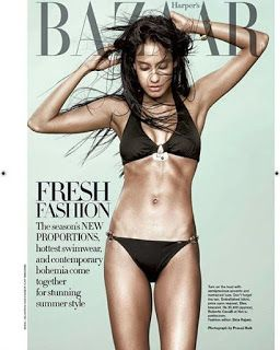 Bharatbytes: Lisa Haydon looks Stunning on the cover of Harper'...