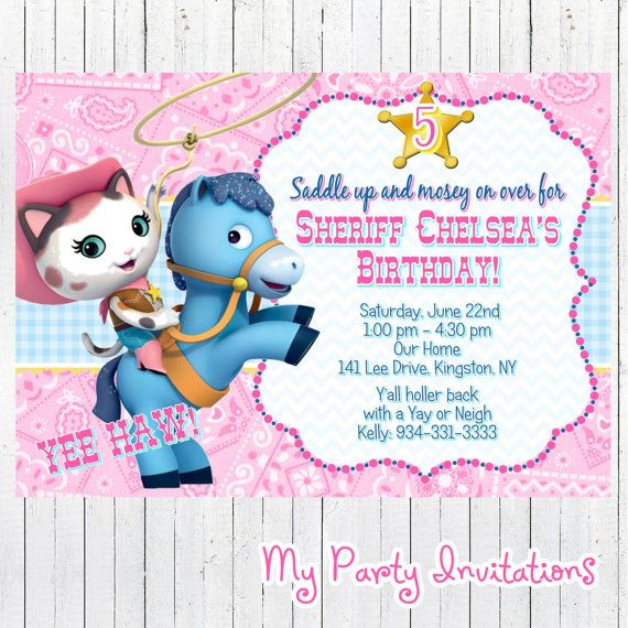 Sheriff Callie Birthday Party Invitation, Sheriff Callie's Wild West Party Invite, Invites, Digital Party Invitations, Printable