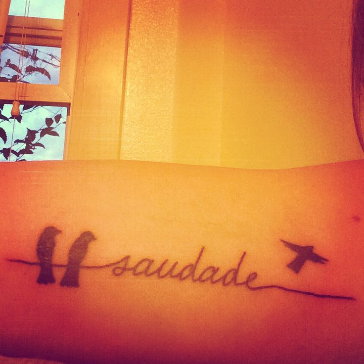 "Saudade was once described as ""the love that remains"" after someone is gone. Saudade is the recollection of feelings, experiences, places or events that once brought excitement, pleasure, well-being, which now triggers the senses and makes one live again. I dig this a lot"