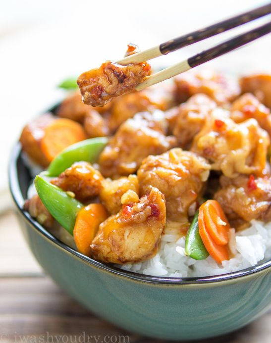 Copycat Pei Wei Spicy Chicken | If you like Pei Wei, you'll love this copycat chicken recipe. It's a delicious homemade Chinese food recipe that you'll want to make all the time.
