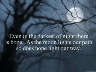 Hope . . Hold On Pain Ends . .