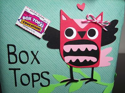 Recycled Box Tops Container