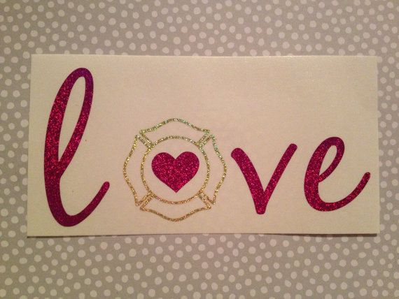 These decals are cut using permanent GLITTER vinyl for your car or truck window, acrylic cups, notebooks - just about anything. If you are