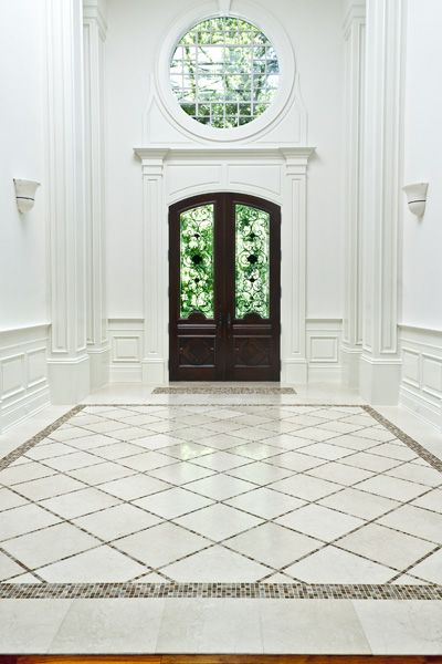 78 best images about foyer ideas on pinterest travertine for Tile for entry foyer