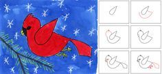 Art Projects for Kids: Watercolor Cardinal