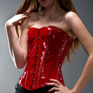 red lack overbust classic corset