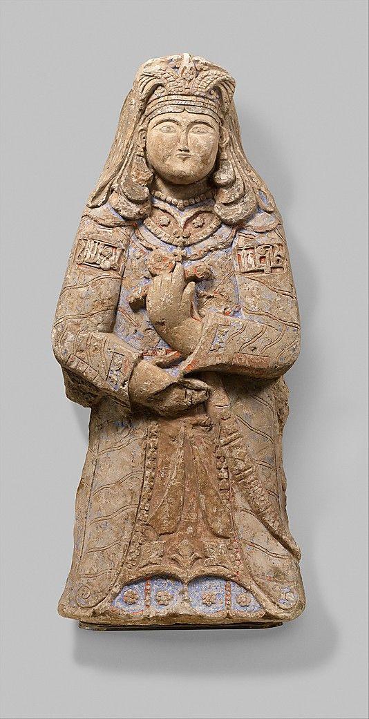Two Royal Figures.  Object Name:     Figure. Date:     mid-11th century–mid-12th century. Geography:     Iran. Medium:     Stucco; modeled, carved, polychrome painted, gilded.       İki Kraliyet Rakamlar . Nesne Adı: Şekil . Tarih: ortası 11. yüzyıl ortalarında 12. yüzyılda . Coğrafya : İran . Orta : Sıva ; modellenmiş , oyma , çok renkli yaldızlı boyalı .