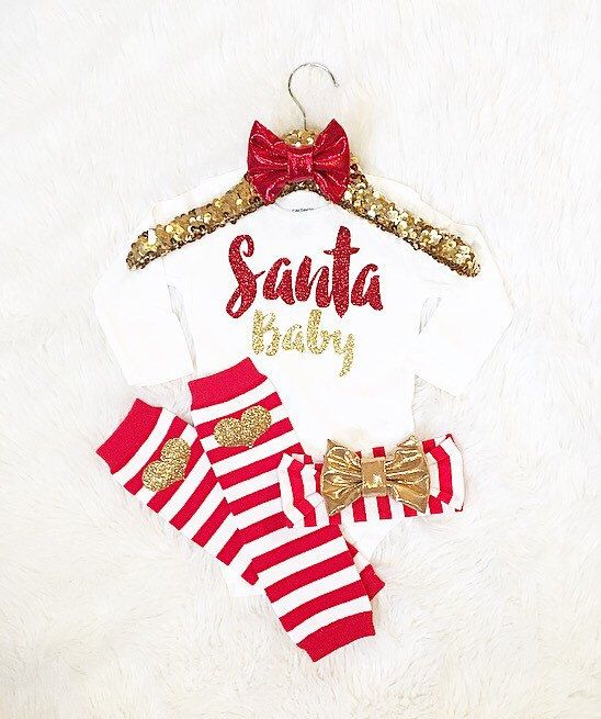 Baby girl Christmas outfit idea Santa Baby (bodysuit only/accessories not included) baby girl shower gift newborn Christmas by AdornedBabyBoutique on Etsy https://www.etsy.com/listing/253864542/baby-girl-christmas-outfit-idea-santa