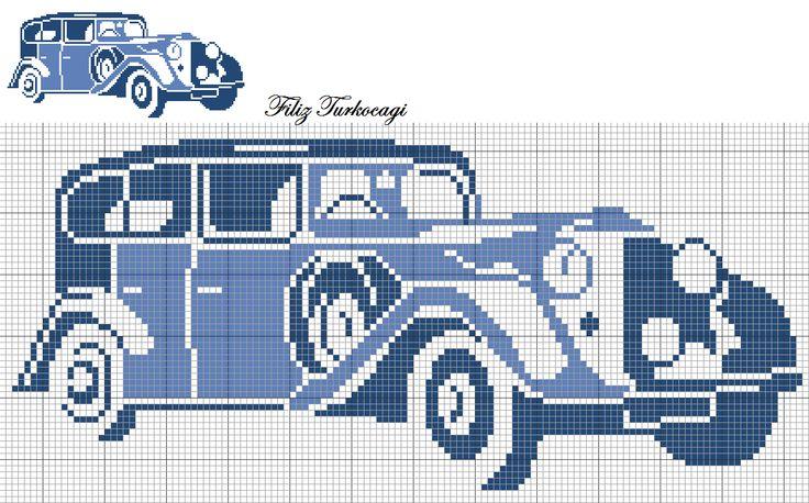 Eski Otomobiller-2 ( Old Car-2 ) Designed by Filiz Türkocağı