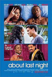 about last night poster film, ulasan film, movies, movie review, michael ealy, regina hall, joy bryant, kevin hart, romance, comedy