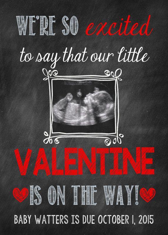 Valentine S Day Pregnancy Announcement Card Valentine S Day