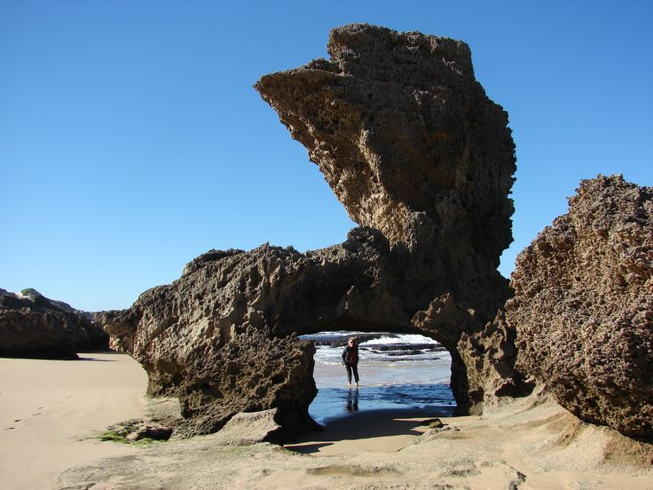 Rock formation at Kenton, Eastern Cape, South Africa
