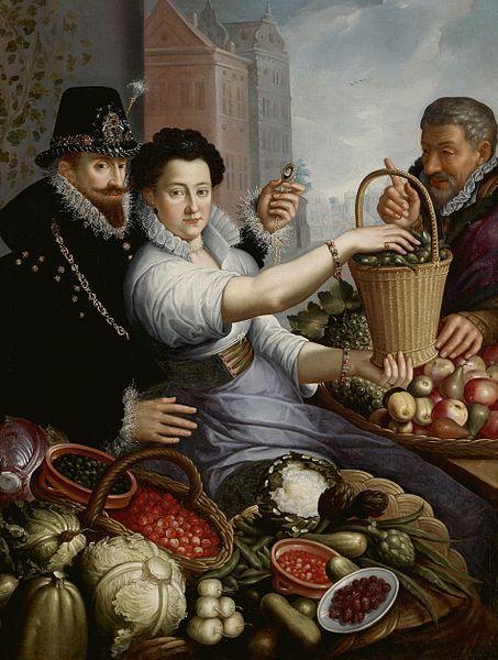 Jean Baptiste de Saive II Portrait of an aristocratic couple as vegetable sellers