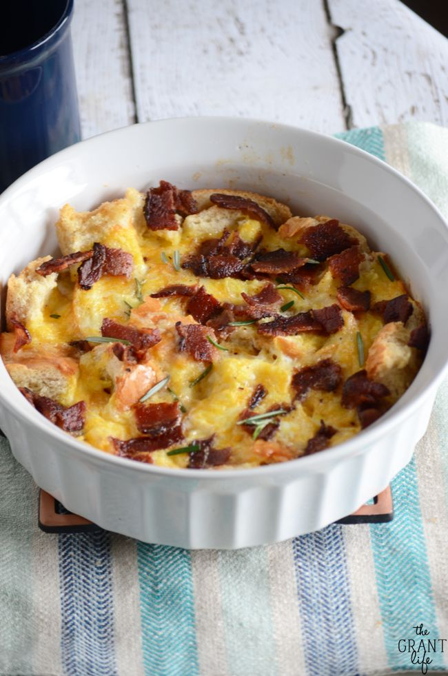The best cheesy bacon breakfast casserole!