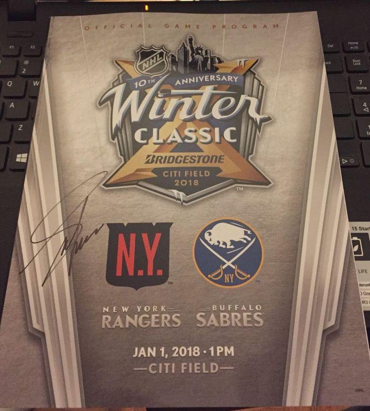 2018 Adam Graves Signed Winter Classic Program NY Rangers + Ticket Stub #NewYorkRangers