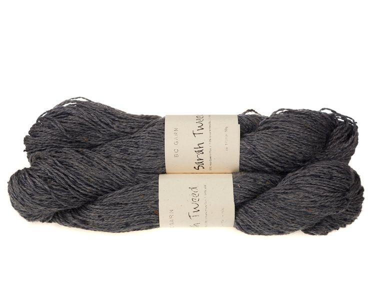 Sarah Tweed lækkert uld / silkegarn - Mellem grå - 59 kr. per fed á 50 gram