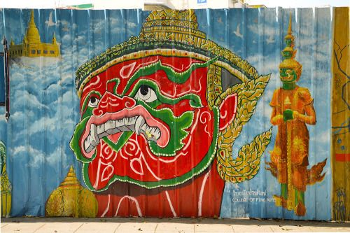 urbangrafx:  Street art in Bangkok Thailand More street art...