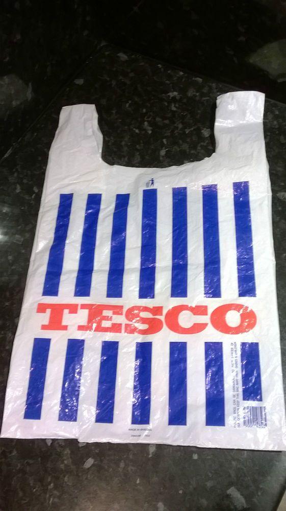 vintage 1980's Tesco carrier bag