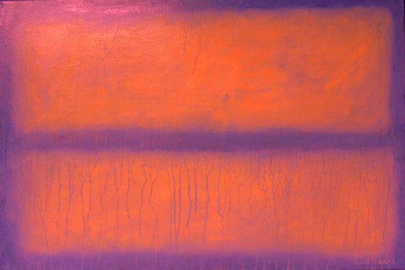 39''  Abstract Painting  Original Painting  di RomanArtStudio