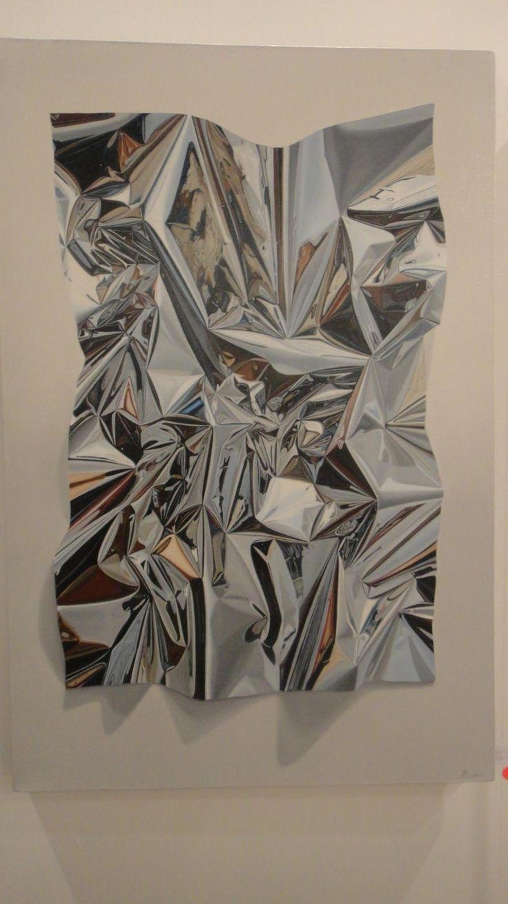 Pintura a óleo sobre tela hieper-realista do pintor chileno, nascido 1984, Nicolas Radic