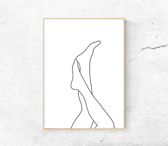 White, Abstract legs, Female body, Body printable art, Minimalist print, Modern art, Line art, Home – Fr@nk