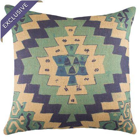 southwesty with a twist: Pillows Carpets Chairs Lights, Favorite Chaise, Color, Burlap Pillows, Fluffy Pillows, Add, Eye Catching Burlap, Southwestern Inspired Motif