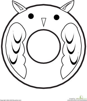 Color The Owl Letter O Educationcom ABCs And 123s Pinterest